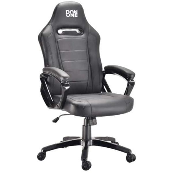 don one belmonte gaming chair black black