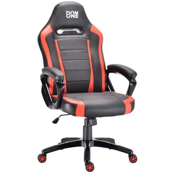 don one belmonte gaming chair black red