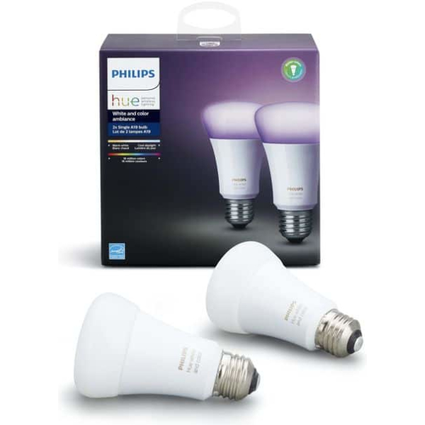 philips hue e27 2 pack white color ambiance new bluetooth edition