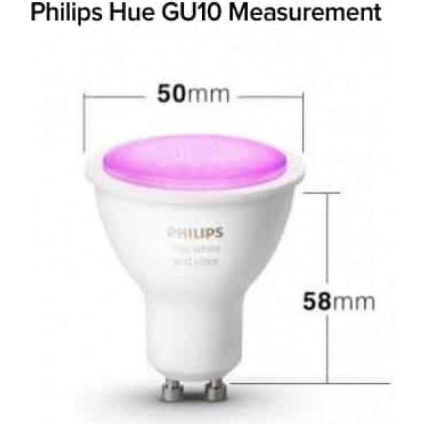 philips hue gu10 2 pack white bluetooth