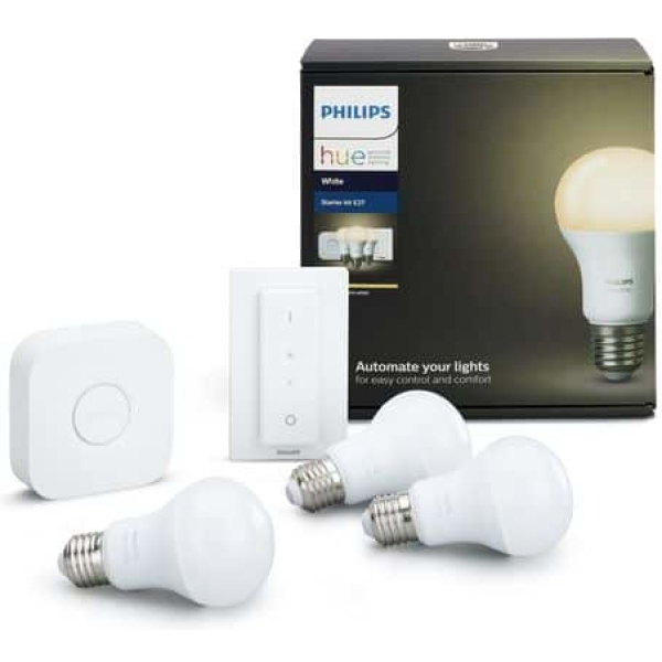 philips hue white 3xe27 bt paerer switch starter kit white ambiance new bluetooth edition