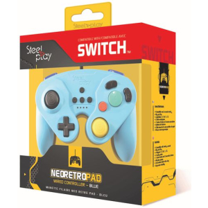 steelplay gcube wired controller blue